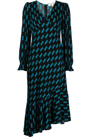 Diane von Furstenberg Manal jacquard asymmetric-hem dress