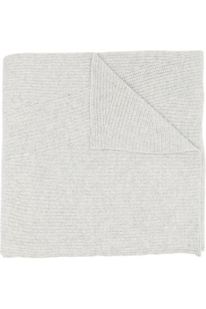 Ganni Women Scarves - Fine ribbed knitted scarf
