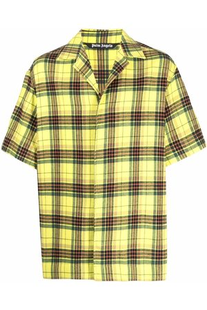 Palm Angels Check-pattern short-sleeve shirt