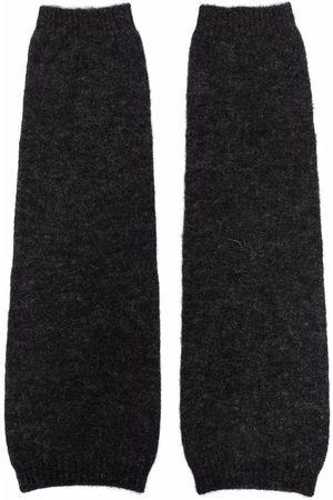GENTRYPORTOFINO Fine knit arm warmers - Grey