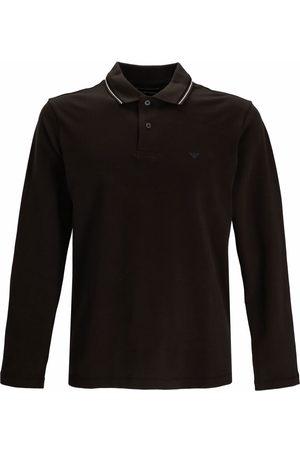 Emporio Armani Embroidered-logo long-sleeved polo shirt