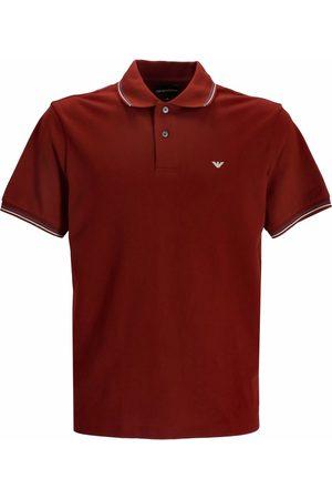Emporio Armani Men Polo Shirts - Embroidered-logo short-sleeved polo shirt