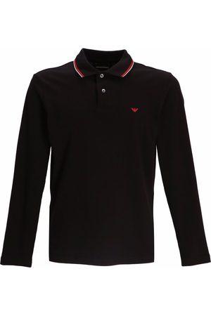 Emporio Armani Men Polo Shirts - Embroidered-logo long-sleeved polo shirt