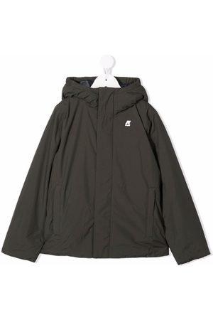 K-Way Boys Bomber Jackets - Logo-patch hooded jacket