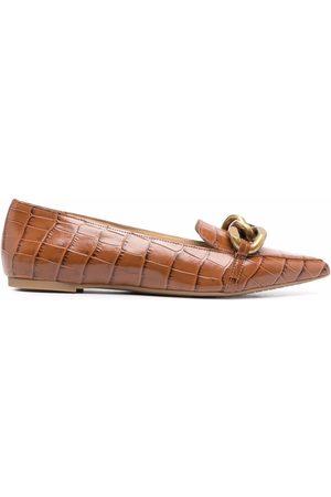 Michael Kors Women Ballerinas - Scarlett crocodile-effect ballerina shoes