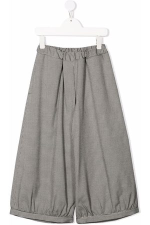 Mimisol Houndstooth wide-leg trousers - Grey