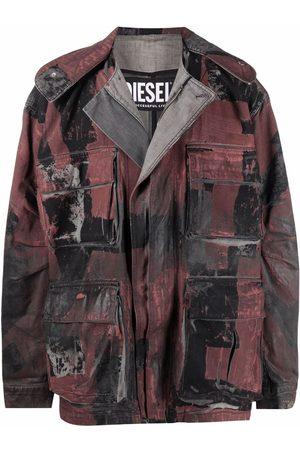 Diesel Painterly-print denim jacket