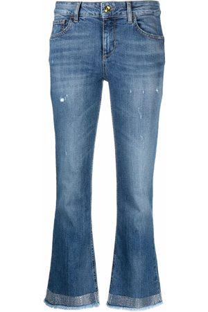 Liu Jo Crystal-embellished cropped jeans