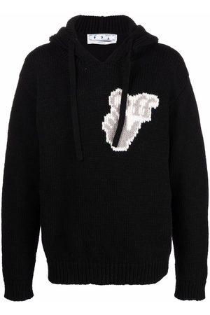 OFF-WHITE Intarsia-logo hoodie