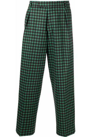 Vivienne Westwood Men Wide Leg Pants - Checked wide-leg trousers