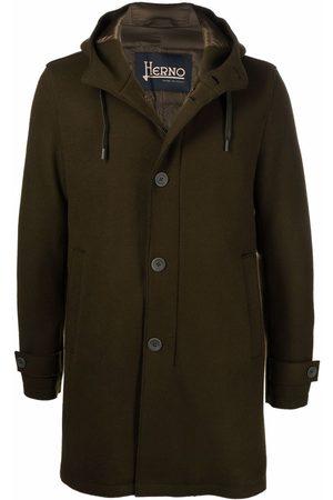 HERNO Hooded single-breasted parka coat