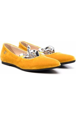 Florens Cable-link ballerina shoes