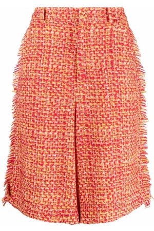 A BETTER MISTAKE Tweed wool-blend shorts