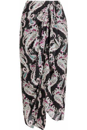 Isabel Marant Women Asymmetrical Skirts - Breetizi draped silk skirt