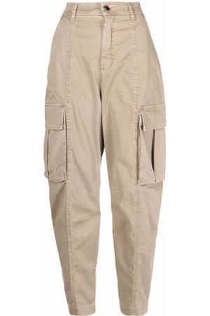 Pinko High-waist cargo trousers - Neutrals