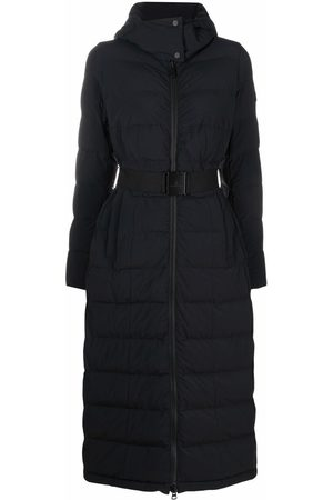 Peutery Women Puffer Jackets - Logo-patch padded coat