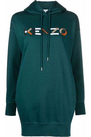 Kenzo Women Hoodies - Logo-embroidered hoodie dress
