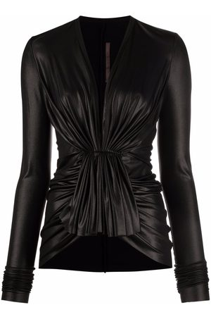 RICK OWENS LILIES Gathered-detail blouse