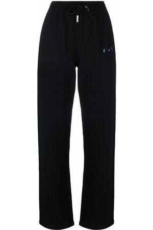OFF-WHITE Logo-print straight-leg slim-cut track pants