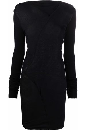 RICK OWENS LILIES Ruched cut-out mini dress