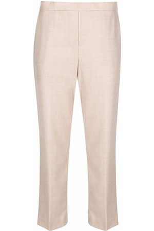 THEORY Virgin wool cropped trousers - Neutrals
