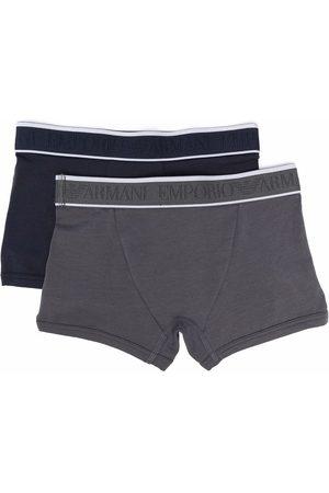 Emporio Armani Boys Boxer Shorts - Two pack boxers - Grey