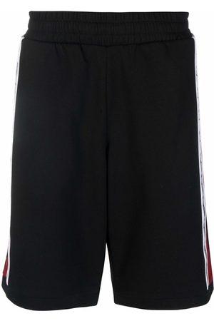 EA7 Side logo-print shorts