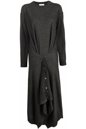 LEMAIRE Women Casual Dresses - Abiti double-layer skirt dress - Grey