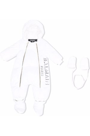 Balmain Spacesuit hooded down bodysuit