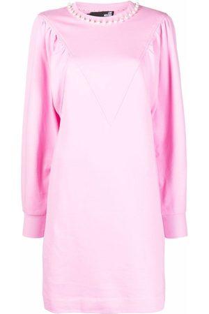 Love Moschino Pearls cotton jersey dress