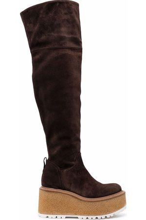 Premiata Platform knee-length boots