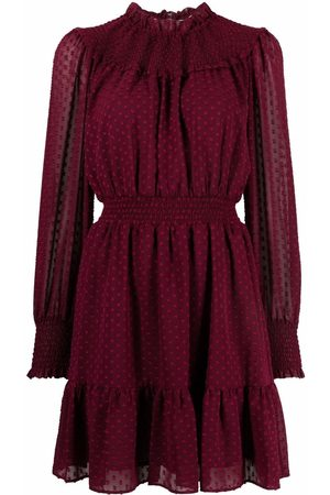 Michael Kors Women Dresses - Polka-dot embroidered ruffle dress