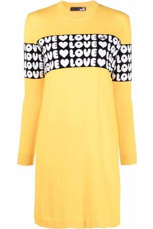 Love Moschino Women Knitted Dresses - Logo knitted dress