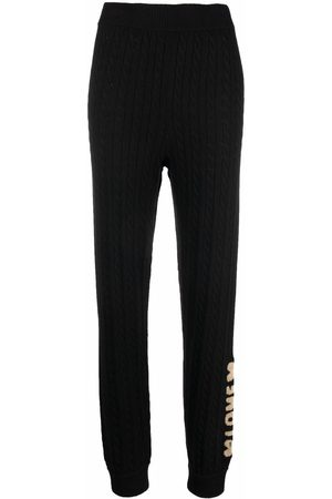 Love Moschino Cable-knit slim-cut trousers