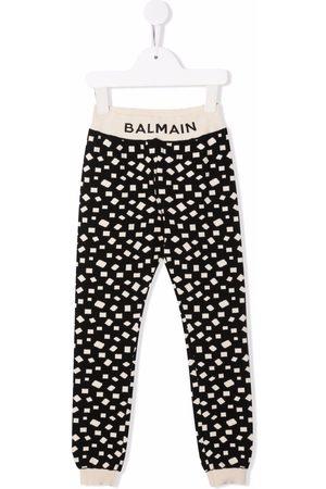 Balmain Geometric print track pants