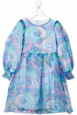Simonetta Girls Printed Dresses - Fantasy print dress