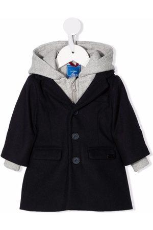 FAY KIDS Coats - Layered hooded coat