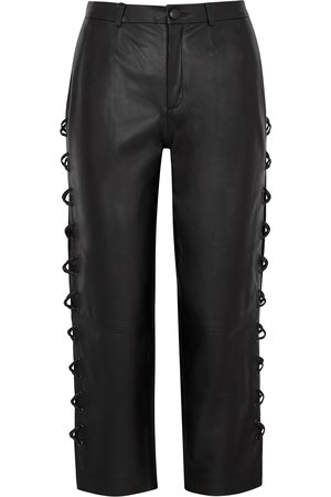 OSMAN Women Leather Pants - Bobby lace-up leather trousers