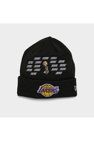 New Era Beanies - Los Angeles Lakers NBA Champions Knit Beanie Hat in /