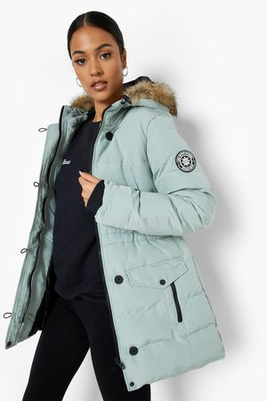 Boohoo Womens Tall Luxe Mountaineering Faux Fur Parka - - 4
