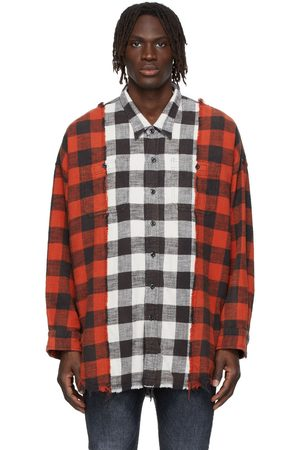 R13 Drop Neck Combo Work Shirt