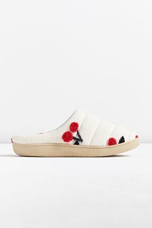 Urban Outfitters UO Cherry Mule Slipper