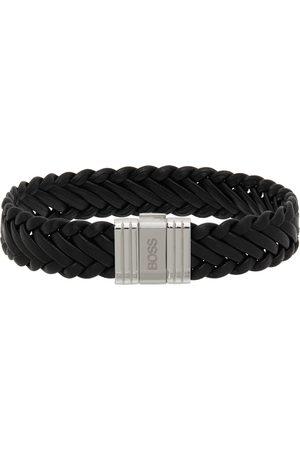 HUGO BOSS Leather Braid Bracelet