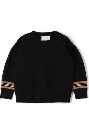 Burberry Sweatshirts - Baby Icon Stripe Amelia Sweater