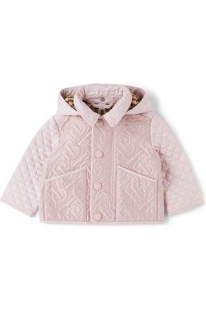 Burberry Baby Quilted Giaden Monogram Hood Jacket