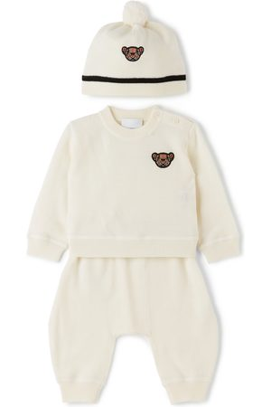 Burberry Baby Merino Wool Thomas Bear Motif Set