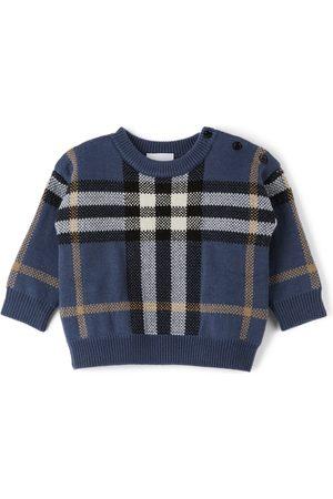 Burberry Sweatshirts - Baby Wool Check Denny Sweater