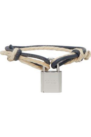 Marni Leather & Cord Lock Bracelet