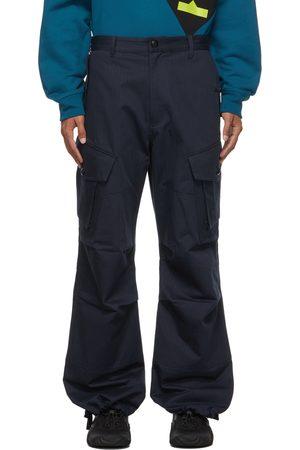 Kenzo Men Cargo Pants - Tweed Drawstring Cargo Pants