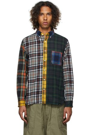 BEAMS PLUS Men Casual - Paneled Nell Shaggy Button-Down Shirt